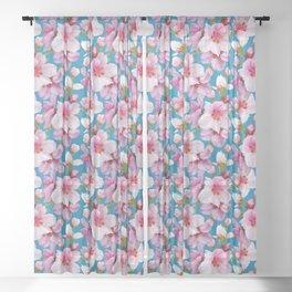 Sakura flowers Sheer Curtain