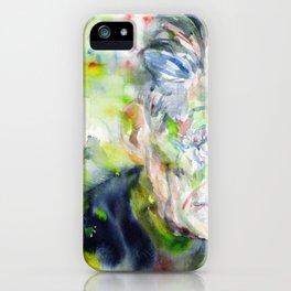 SAMUEL BECKETT - watercolor portrait iPhone Case
