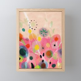 floral power abstract Framed Mini Art Print