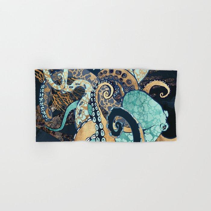 Metallic Octopus II Hand & Bath Towel