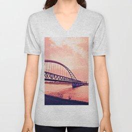Over the Bridge Unisex V-Neck