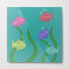 Fishies! Metal Print