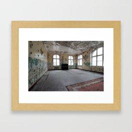 Forgotten piano, abandoned hospital Framed Art Print