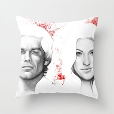 Dexter and Debra Throw Pillow