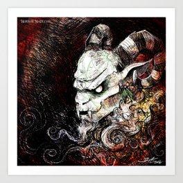 Krampus Grunge Art Print