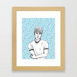 Finn Nelson Floral Framed Art Print
