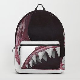 Shark Open Mouth Bite Eat Fish Blood Lips Backpack