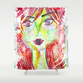 You Don't Scare Me, My Best Friend is Red-Head Shower Curtain