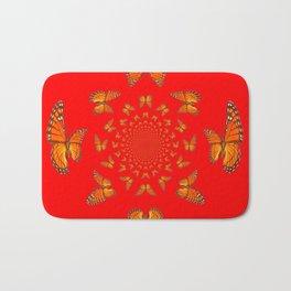 CHINESE RED MONARCH BUTTERFLIES MATING DANCE Bath Mat