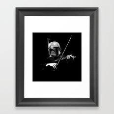 Dark Violinist Fett Framed Art Print