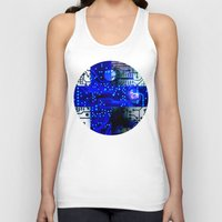 finland Tank Tops featuring circuit board Finland by seb mcnulty