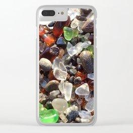 Glass beach California Clear iPhone Case
