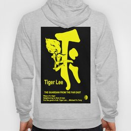 TIGER LEE ...black poster in yellow Hoody