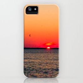 An LBI Sunset iPhone Case