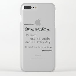 Strong Is Fighting Clear iPhone Case
