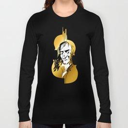 Niccolo Paganini and golden violin Long Sleeve T-shirt