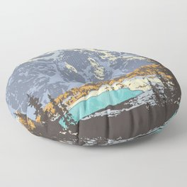 Banff National Park Floor Pillow