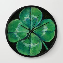 Shamrock Wall Clock