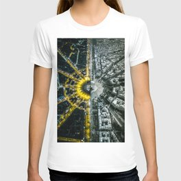 Night and day above Paris T-shirt