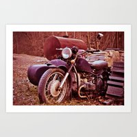 moto Art Prints featuring Vintage Moto by Eduard Leasa Photography