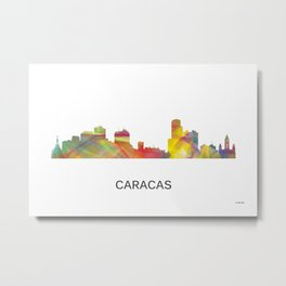 Caracas, Venezuela Skyline Metal Print