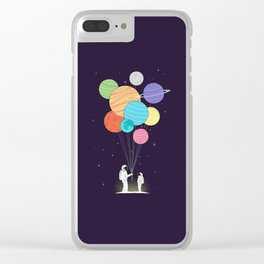 Space Gift Clear iPhone Case