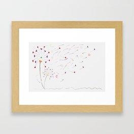 Soft love Framed Art Print