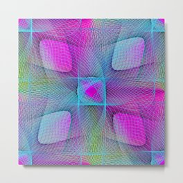 Colorful Complexity Metal Print