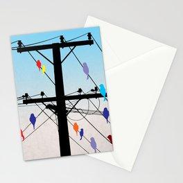 birds blue Stationery Cards