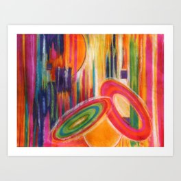 Vivid Abstract Art Print