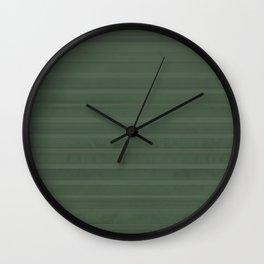 relaxing green stripe Wall Clock