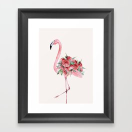 Flamingo Floral Framed Art Print