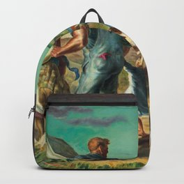 Tornado Over Kansas, American Regionalism landscape Great Plains painting by John Steuart Curry Backpack
