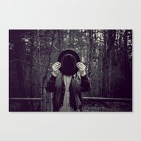 magritte Canvas Prints featuring Velvet Magritte by KitsuneTea
