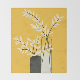 Abstract Vases Throw Blanket