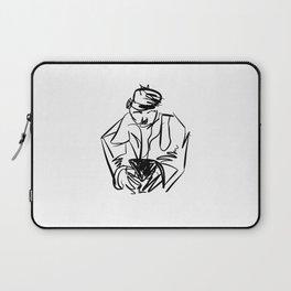 MAN ON PHONE Laptop Sleeve