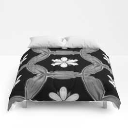 black and white hippie flower pattern Comforters