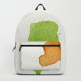 Orange and Green Abstract Art Backpack
