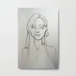 Misterious girl Metal Print