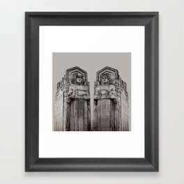 The Guardians in Grey Framed Art Print