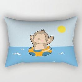Summer Monkey Rectangular Pillow