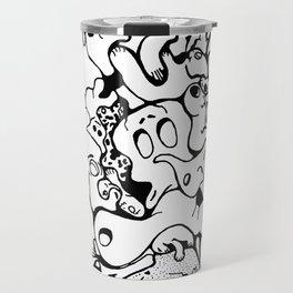 Monster Collage Travel Mug