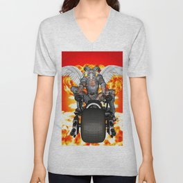 Biker of the Apocalypse-Conquest Unisex V-Neck