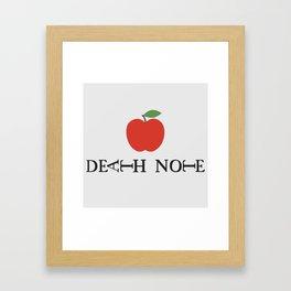 Death Note Apple Framed Art Print