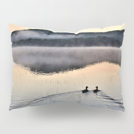 Love Ducks at Dawn on Lake George Pillow Sham