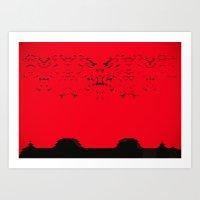 arrakis Art Prints featuring High Noon on Arrakis by Keen Must Die