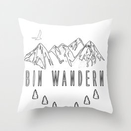 Wandern Wanderer Natur Berg Wälder Gipfel Geschenk Throw Pillow