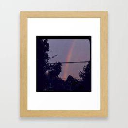 rainbow in my neighborhood Framed Art Print