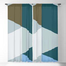 Geometric Triangles - Aegean Pistachio Blackout Curtain