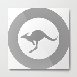 Roundel of Royal Australian Air Force - Low Visibility  Metal Print